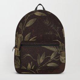"Leonardo Da Vinci ""Wreath of Laurel, Palm, and Juniper with a Scroll inscribed Virtutem Forma Decor"" Backpack"