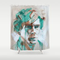 sherlock Shower Curtains featuring Sherlock by Dan Olivier-Argyle