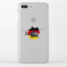 German Black Helicopter Clear iPhone Case
