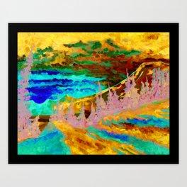 Mountain Sunset Artist Print from an Original Oil Painting Art Print