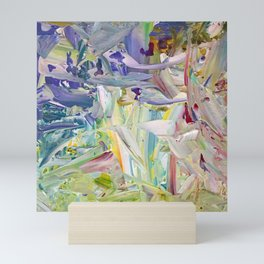 Abstracted Spring Iris Mini Art Print