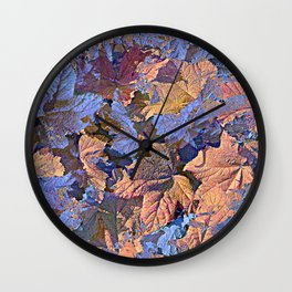 MAGIC THIMBLEBERRY ORANGE AND BLUE Wall Clock