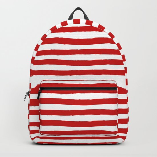 Red Horizontal Stripes Backpack