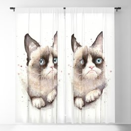 Angry Cat Blackout Curtain