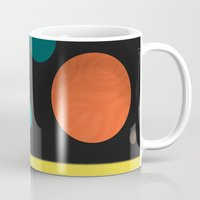 solar system Mugs featuring Solar system by Sarajea