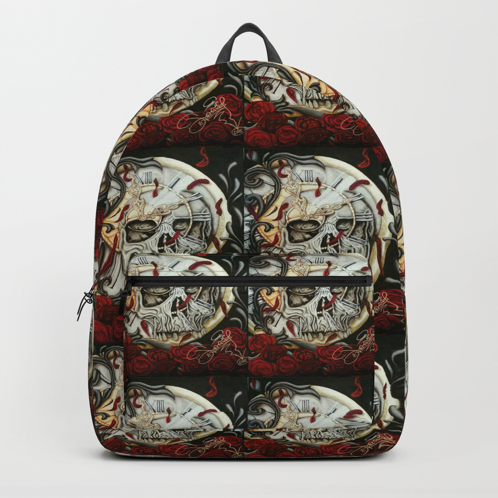 Tyme Waits For None Backpack by Juiceexpressions BKP7661874