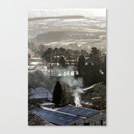 Farmland Fire Canvas Print