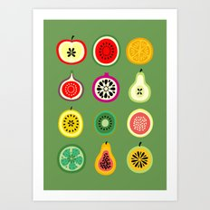 Banca de Frutas Art Print