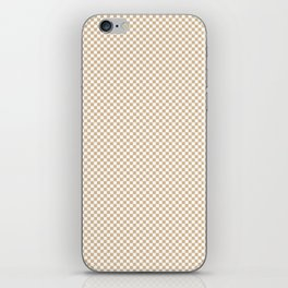Almond Baby Camel and White Mini Check 2018 Color Trends iPhone Skin