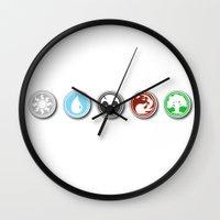 magic the gathering Wall Clocks featuring MAGIC .. the gathering by studiomarshallarts
