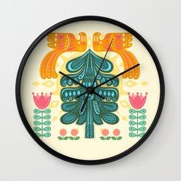 Scandinavian Summer Sunrise Wall Clock