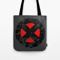xmen Tote Bags featuring XMen by sambeawesome