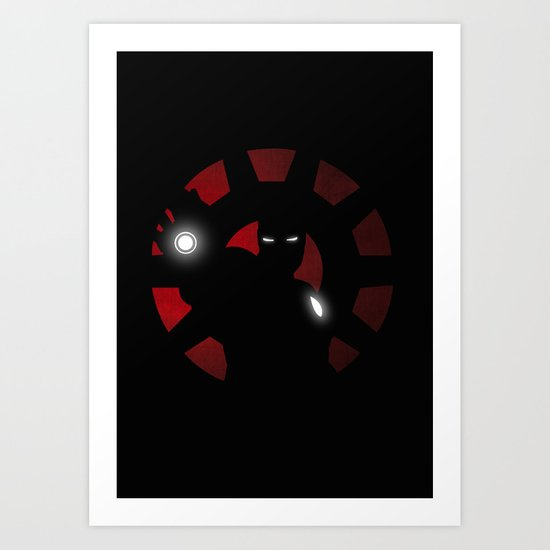 SuperHeroes Shadows : Iron Man Art Print