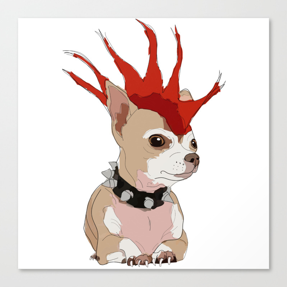Bad Ass Chihuahua Canvas Print by Gangsterrapandcoffee CNV8731592