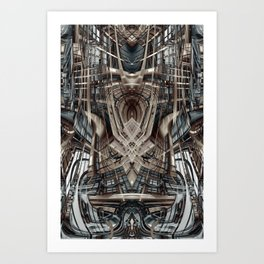 Abstract fantasy building Art Print