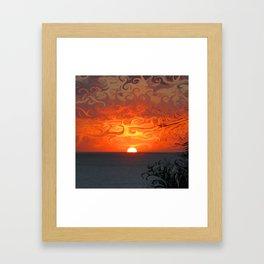 Fluid sunset in Sperlonga (Italy) Framed Art Print