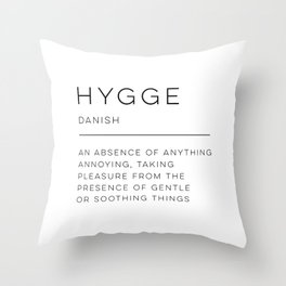 Hygge Definition Throw Pillow