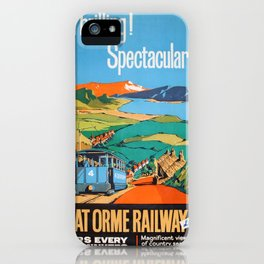 Vintage poster - Great Orme Railway iPhone Case