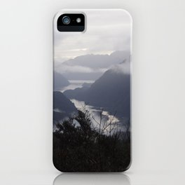 Descending into Taiparariki (Doubtful Sound) iPhone Case