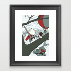 Todd Climbs a Tree Framed Art Print