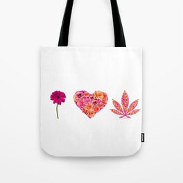 i Heart Pot Leaf Tote Bag