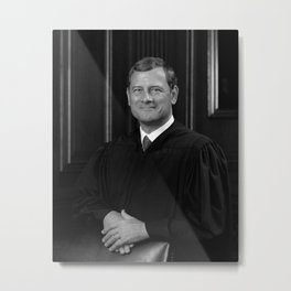 Chief Justice Roberts Portrait Metal Print