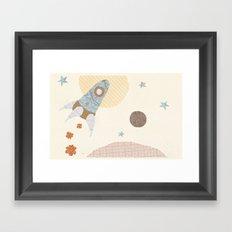 spaceship collage Framed Art Print