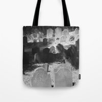 patriots Tote Bags featuring Granary Burying Ground by David Hohmann by David Hohmann