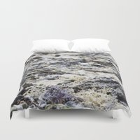 sand Duvet Covers featuring sand by Maryann Worrall