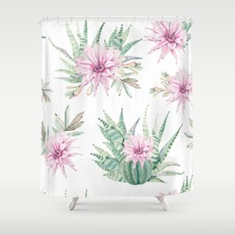 Simply Cactus Desert Rose Shower Curtain