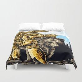 Golden Bearborg Duvet Cover