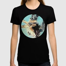 Let's Fly Border Collie Dog Portrait T-shirt