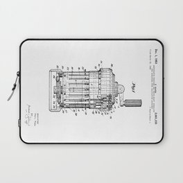 Curta Mechanical Calculator Patent Drawing Laptop Sleeve