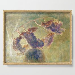 The Dance of the Hours by Gaetano Previati Serving Tray