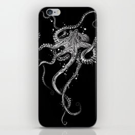 Octopus (black) iPhone Skin