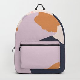 Orange Hair Girl // Minimalist Indie Rock Music Festival Lavender Sunglasses by Mighty Face Designs Backpack