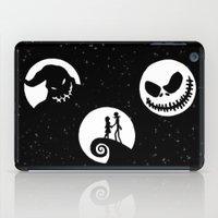 nightmare before christmas iPad Cases featuring Nightmare Before Christmas by Linda V.