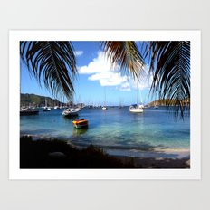 serene harbor Art Print