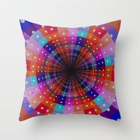carnival Throw Pillows featuring Carnival  by Laura Santeler