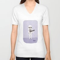 storm trooper V-neck T-shirts featuring Storm Trooper by Popol