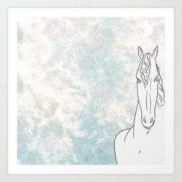 Homage to horse Art Print