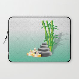 Meditation stones, bamboo and candles Laptop Sleeve