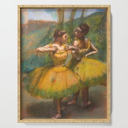 """Edgar Degas """"Two dancers in yellow"""" Serving Tray"""