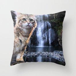 Bobby Joe <3 Waterfalls Throw Pillow