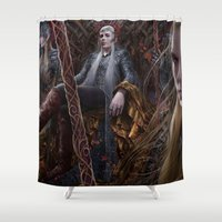 thranduil Shower Curtains featuring Evergreen by Jay Lockwood Carpenter