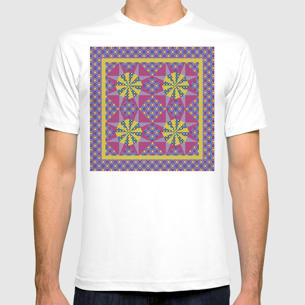 Any Day Geo Quilt Tshirt by Eileenflemingpatterndesign TSR8946000
