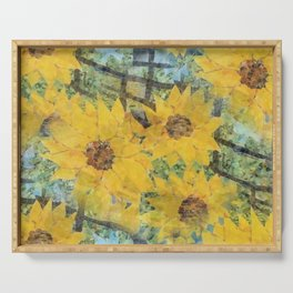 """Sunflowers In The Mist"" Serving Tray"