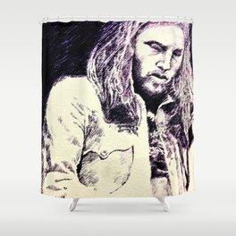 David Gilmour sketch Shower Curtain