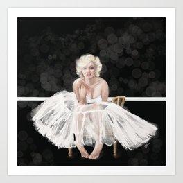 Marilyn Ballerina series in black Art Print