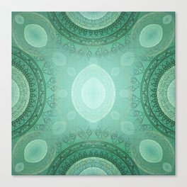 """Aquamarine Sea Mandala Deluxe"" Canvas Print"